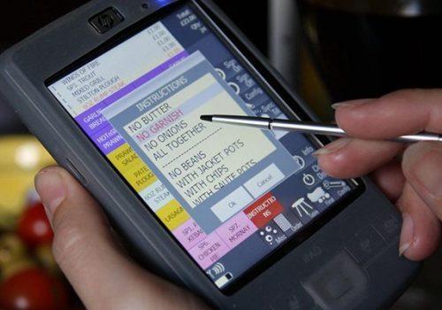 How does handheld order-taking devices work