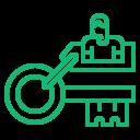 Blockchain Solution - Public key icon
